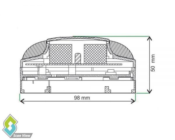دتکتور حرارتی zitex مدل ZI-H 717